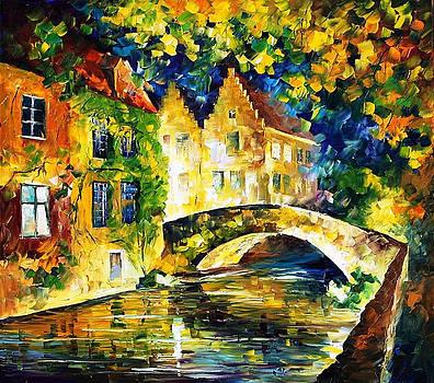 France - PALETTE KNIFE Oil Painting On Canvas By Leonid Afremov by Leonid Afremov