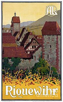 France Riquewihr Vintage Travel Poster Restored by Carsten Reisinger