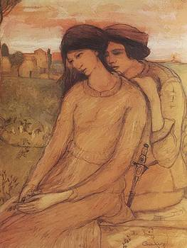 Francesca Da Rimini And Paolo Malatesta 1903 by Gulacsy Lajos