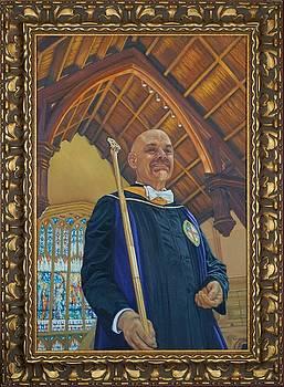 Frank Bellamy at St. John's Cathedral by Mitzisan Art LLC