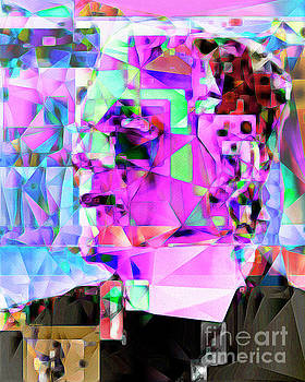 Wingsdomain Art and Photography - Frankenstein in Abstract Cubism 20170407