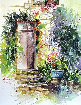 Frayssinet Doorway, France by Rae Andrews