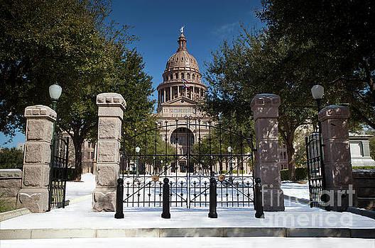 Herronstock Prints - Freak Austin, Texas snow storm paints the Texas State Capitol wh