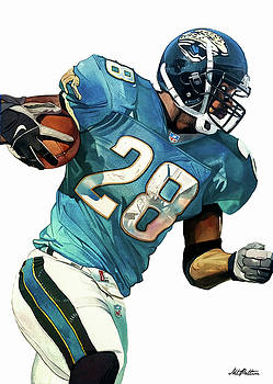 Fred Taylor Jacksonville Jaguars by Michael Pattison
