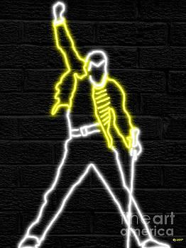 Freddie Mercury Neon by Daniel Janda