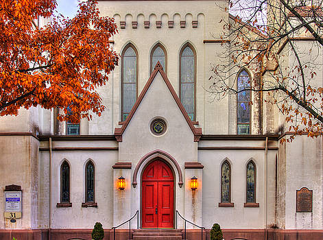 Frederick Maryland Historic District Series - Entrance to the Evangelical Lutheran Church No. 15b by Michael Mazaika