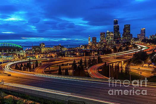 Freeway 5 North To Seattle by Sal Ahmed