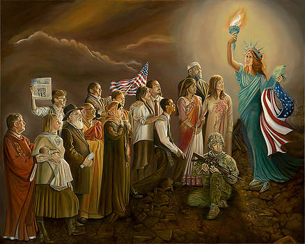 FREEDOM-Liberty Lighting Our Way by Sharon Lange