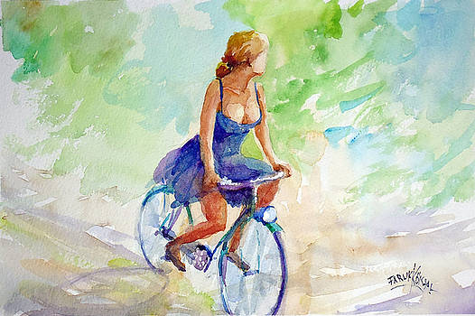 Freedom On Bicycle by Faruk Koksal