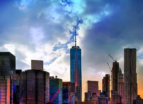 Joann Vitali - Freedom Tower and New York City Skyline at Sunset