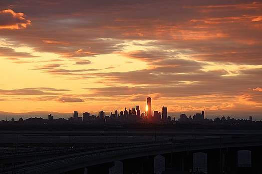 Freedom Tower Reflection by Rita Tortorelli