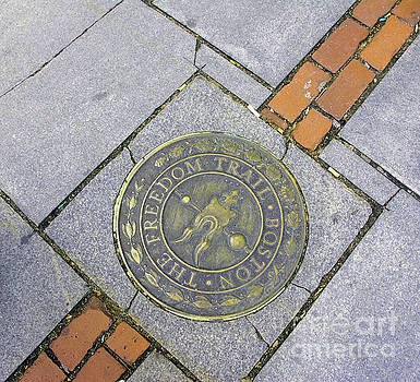 Freedom Trail Marker by Ruth H Curtis