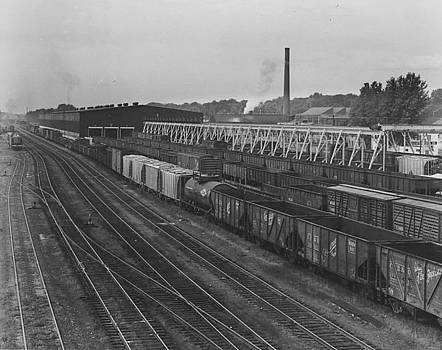 Chicago and North Western Historical Society - Freight Cars at Shop in Clinton Iowa