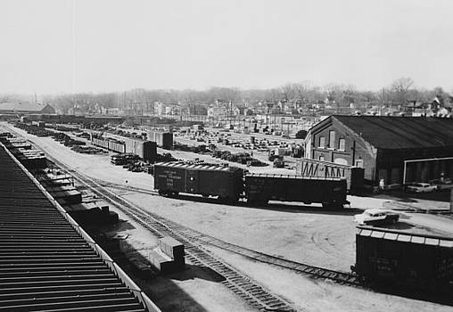 Chicago and North Western Historical Society - Freight Cars in Line at Iowa Railroad Car Shop