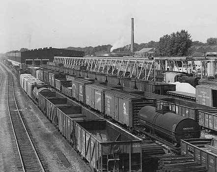 Chicago and North Western Historical Society - Freight Cars Parked in Machine Shop