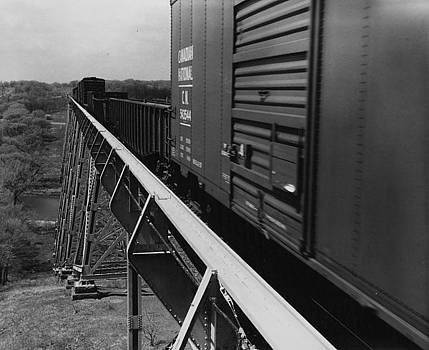 Chicago and North Western Historical Society - Freight Crosses Boone High Bridge