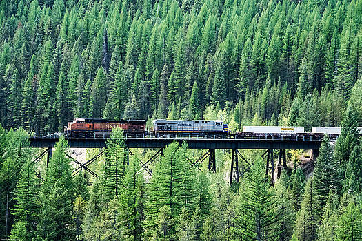 Mick Anderson - Freight Over A Trestle In Montana
