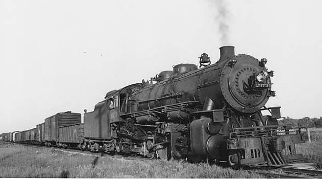 Chicago and North Western Historical Society - Freight Train Near Peshtigo Wisconsin - 1948