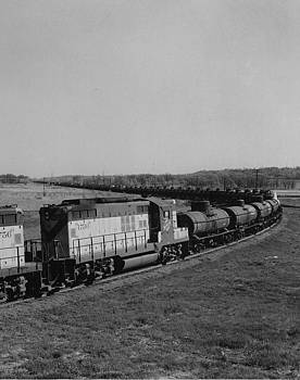 Chicago and North Western Historical Society - Freight Train Rolls Through Countryside - 1958