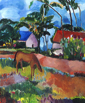 French Country Scene by Sarah Whitecotton