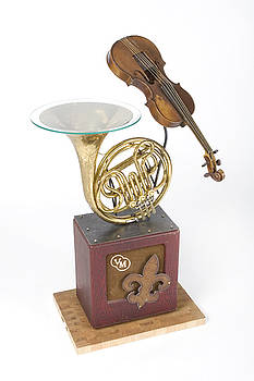 Benjamin Bullins - French Horn And Violin Table