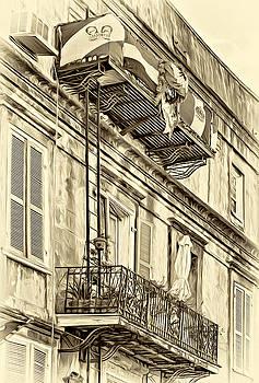 Steve Harrington - French Quarter Architecture - Mardi Gras Sepia