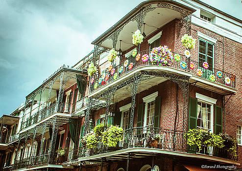 French Quarter Balconies by Debra Forand