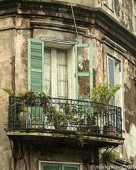 French Quarter balcony by Mark Peavy