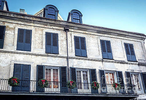 French Quarter dressed for Christmas by Joan McCool