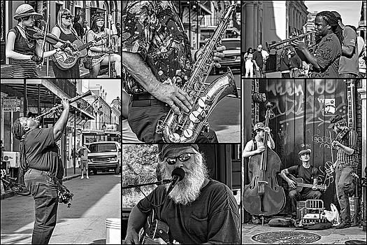 Steve Harrington - French Quarter Musicians Collage 2 bw