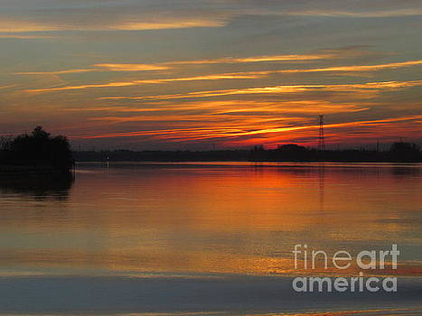 French Riverside Sunset by Barbara Plattenburg