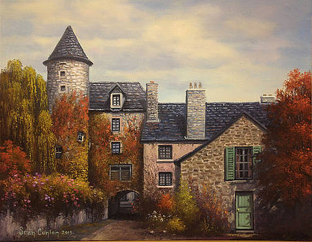French Town Courtyard by Sean Conlon
