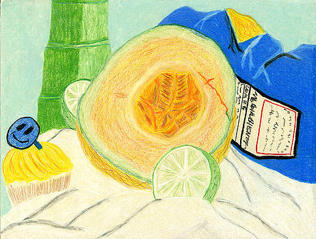 Fresh Fruit Still Life by MJ Sadler