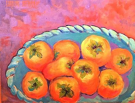 Fresh Persimmons by Caroline Patrick