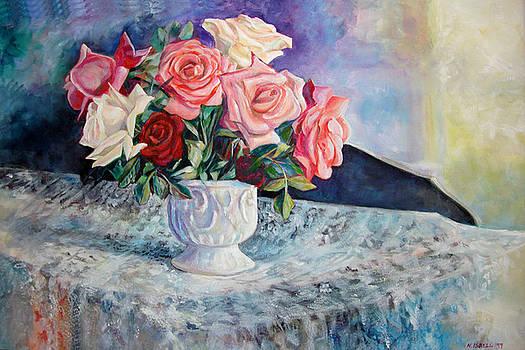 Fresh Roses by Nancy Isbell