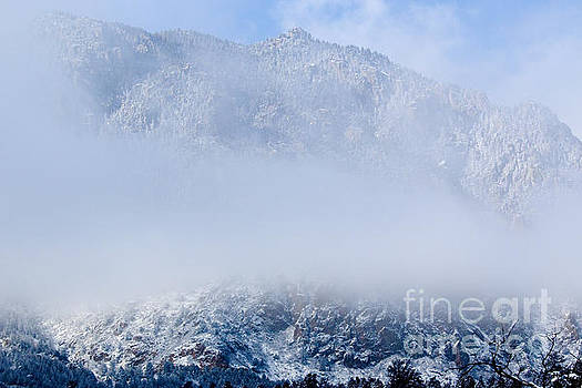 Steve Krull - Fresh Snow and fog on Cheyenne Mountain