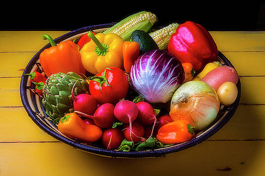 Fresh Vegetables In Lovely Basket by Garry Gay