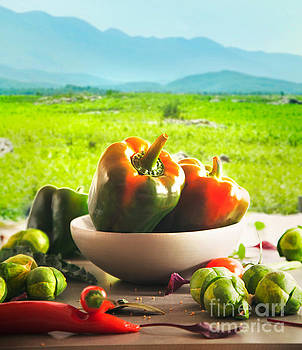 Fresh vegetables outdoor by Mythja Photography