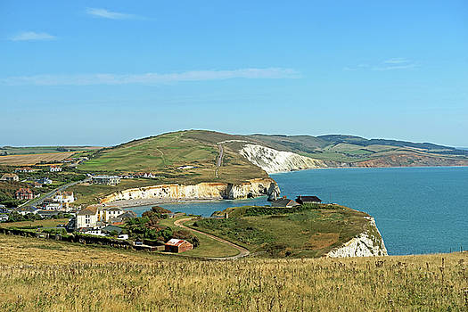 Freshwater Bay From Tennyson Down by Rod Johnson