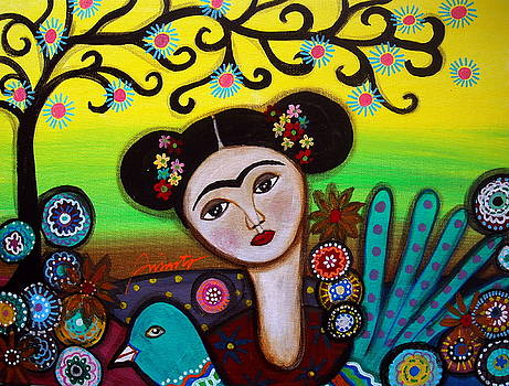 PRISTINE CARTERA TURKUS - FRIDA AND BIRD