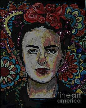 Frida In Flowers by Valarie Pacheco