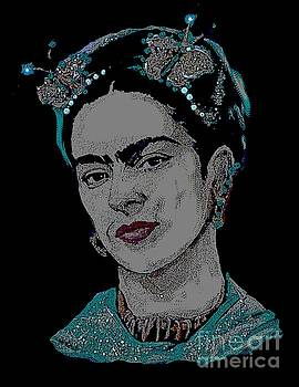 Frida Kahlo Butterfly by Valarie Pacheco