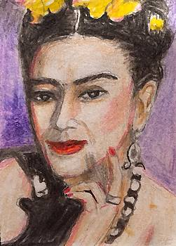 Frida Kahlo Portrait by Larry Lamb