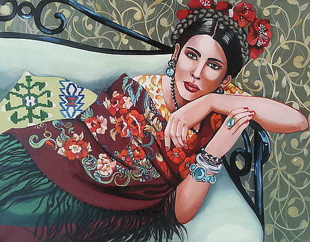 Frida look- a- like by Erica Laszlo