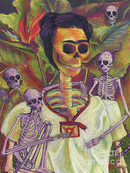 Frida Skelly with Monkeys by Marie Marfia