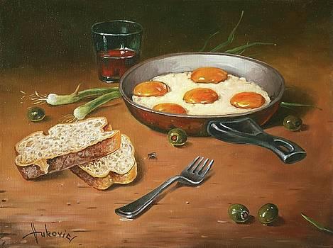 Fried eggs by Dusan Vukovic