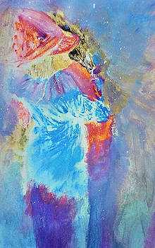 Friendly Embrace Painting by Lisa Kaiser by Lisa Kaiser