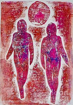 Friends in pink  by Corina Stupu Thomas