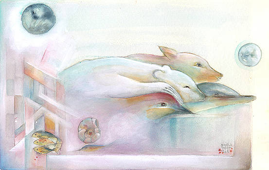 Four Animals being Friends by Naike Jahgan