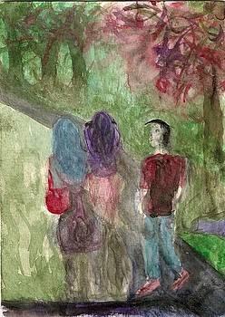 Friends Walking by Denise Marie Johnson